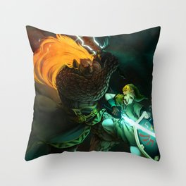 Zelda: Final Showdown Throw Pillow