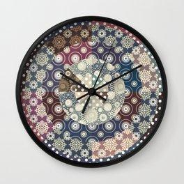 Playing with circles II Wall Clock