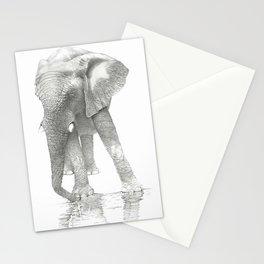 African Elephant, Loxodonta Africana Stationery Cards