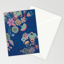 Chinz dark blue Stationery Cards