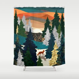 Amber Fox Shower Curtain