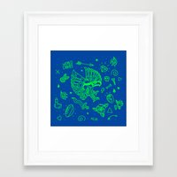 seahawks Framed Art Prints featuring Seahawks Super Bowl Champion by Maioriz Home