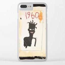 Basquiat 1960 Clear iPhone Case