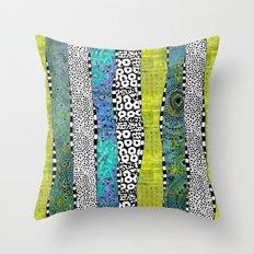 Happy Stripe Throw Pillow