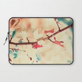 Autumn (Leafs in a textured and abstract sky) Laptop Sleeve