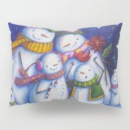 Snow Family Portrait Pillow Sham