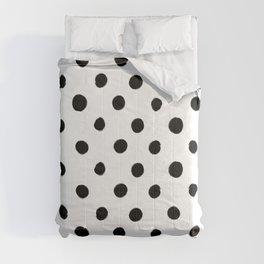Modern Handpainted Abstract Polka Dot Pattern Comforters