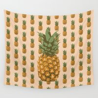 pineapples Wall Tapestries featuring Pineapples by Brocoli ArtPrint