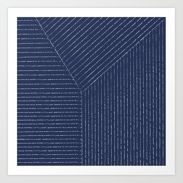 Lines / Navy Kunstdrucke