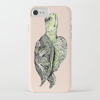 sea turtle iPhone & iPod Cases featuring Turtle by Tara Put