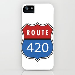 Route 420 Interstate Sign iPhone Case