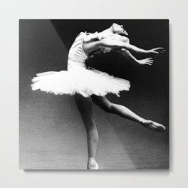 Swan Lake Ballet Magnificent Natalia Makarova black and white photograph  Metal Print