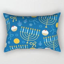 Hanukkah Menorah Pattern Rectangular Pillow