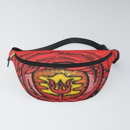 Eye of an Incarnation Red Fanny Pack