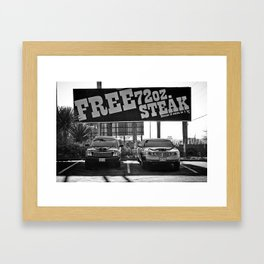 Free Steak Framed Art Print