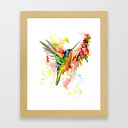 Tropical Hummingbird Framed Art Print