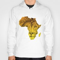 musa Hoodies featuring King Of The Jungle! by DeMoose Art