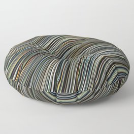 MAGS multi-colour layers create a giant wave Floor Pillow