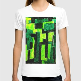 Three Green Puzzle T-shirt