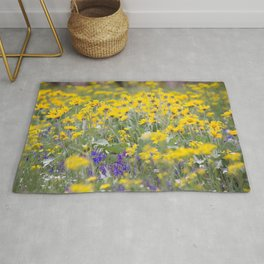 Meadow Gold - Wildflowers in a Mountain Meadow Rug