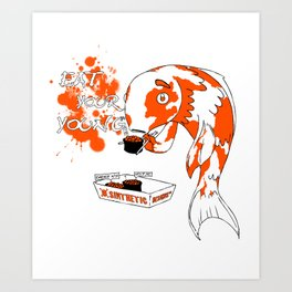 Eat Your Young: Fish Art Print