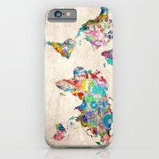 world map music art Slim Case iPhone 6s