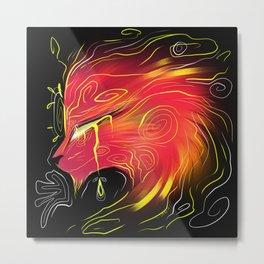 Trippy Dragon Metal Print