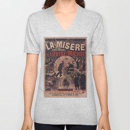 Old sign / La misere Louise Michel Unisex V-Neck