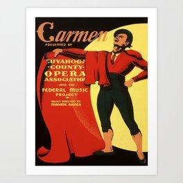 Vintage poster - Carmen Art Print