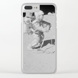 Apollo 16 - Collecting Lunar Samples Clear iPhone Case