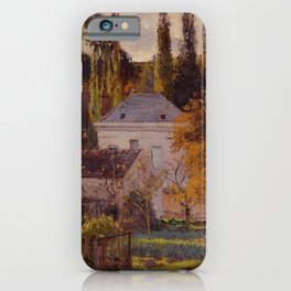 Bourgeois House In L Hermitage Pontoise 1873 By Camille Pissarro | Reproduction | Impressionism Pain iPhone Case