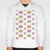 macaron Hoodies featuring Macaron print by Fashion Doodles