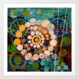 """Orange & Blue"" Art Print"