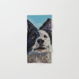 Border Collie Portrait Hand & Bath Towel