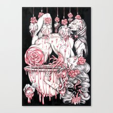 Homenage to Erszebeth Bathory Canvas Print