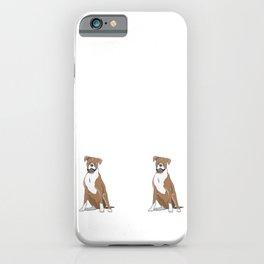 Mein Hund hört aufs Wort Boxer iPhone Case