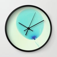 balloon Wall Clocks featuring Balloon by Lawson Images