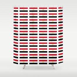 flag of egypt 2 - Egyptian,nile,pyramid,pharaon,cleopatra,moses,cairo,alexandria. Shower Curtain