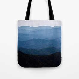 Shades of Blue- Smoky Mountains Tote Bag