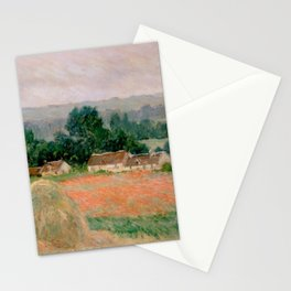 Haystack at Giverny Stationery Cards