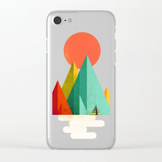 Little Geometric Tipi Clear iPhone Case