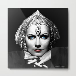 Greta Garbo Portrait Metal Print