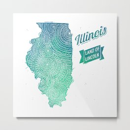 Illinois Metal Print