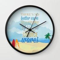 lilo and stitch Wall Clocks featuring choice waves.. lilo and stitch by studiomarshallarts