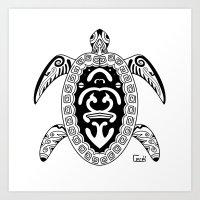 tortoise Art Prints featuring Tortoise by ceceï