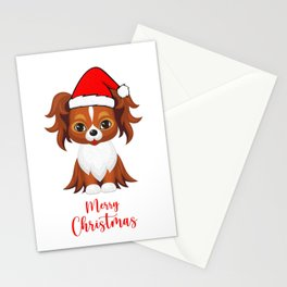 Papillon Dog wishes you merry christmas  Stationery Cards