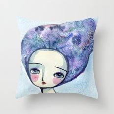 The Muse Of Winter Throw Pillow