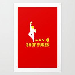 Ken Street Fighter Art Print