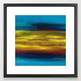 Blue Stream Of Sunset Framed Art Print