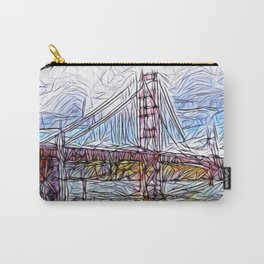 Golden Gate Bridge abstract Carry-All Pouch